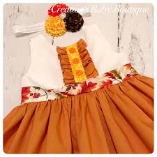 Thanksgiving Dress Baby Thanksgiving Fall Dress Thanksgiving Dress Baby
