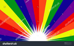 pride rainbow color banner background stock illustration
