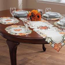 cool autumn table runner fall table decorations leaves pattern