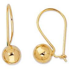 gold back earrings 14k yellow gold lever back earrings 25 mm goldexit