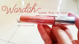 review wardah exclusive matte lip 03 see you latte indahrp