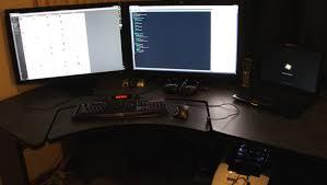 computer desk for 2 monitors perfect dual monitor computer desks station desk design with amazing