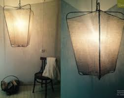 Linen Pendant Light Pendant Ls Lanterns Linen Vintage Handmade