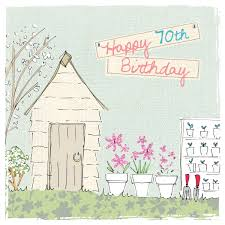 70th Birthday Cards Potting Shed 70th Birthday Card Karenza Paperie