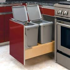kitchen cabinet with trash bin renovate your home design ideas