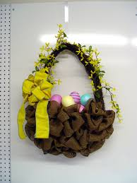 make an easter basket with deco poly burlap and raz easter boy