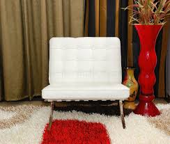 White Tufted Leather Sofa by Button Tufted Full Leather Modern Living Room Sofa