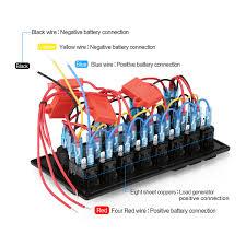 8 gang circuit breaker 12v 24v led rocker switch panel boat rv