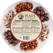 gourmet pears pear s gourmet premium nut pretzel sler gift 20 5 oz
