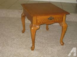 Oak End Tables Solid Oak Coffee Table Two End Tables Claw Prescott