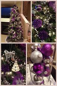 silver and purple tree decorations cheminee website