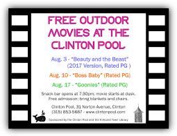 movie town jack boynton community pool u2014 clinton ny u0027s community pool