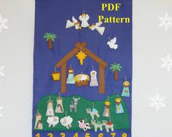 felt advent calendar pattern nativity pattern