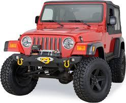 jeep grand cherokee prerunner fabtech front prerunner bumper in black for 87 06 jeep wrangler