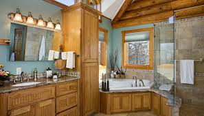 log home bathroom ideas traditional log home design ideas log cabin master bathroom design