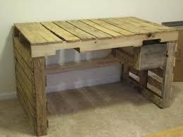 Diy Pallet Desk Diy Pallet Desk With Drawers