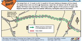 Traffic Map Usa by Salisbury Bypass Ramp Closing For 3 Months For Road Work