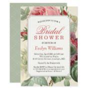 vintage bridal shower invitations vintage bridal shower invitations funbridalshowerinvitations