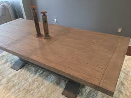 How To Make An Expandable Table Prospect Hill Gray Rectangular Extendable Pedestal Dining Table