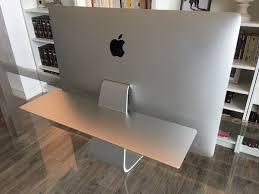 bureau pour imac 27 float shelf prise en d une étagère pour imac mac4ever com