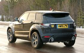 modified range rover evoque all new range rover evoque ii spied for the first time as test
