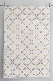 White Cotton Rug Zanjeer Cotton Rug Gold On White U2013 Drømme
