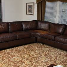studded leather sectional sofa bernhardt leather sectional sofa ebth