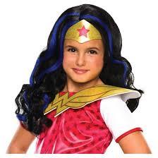Target Girls Halloween Costumes Woman Wig Dc Superhero Girls Size Fits Target