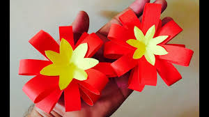 how to make paper flower bow easy paper crafts for home