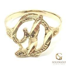 Initials Ring Gold Initial Ring Ebay