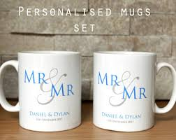 His And Hers Wedding Gifts His And Hers Mugs Etsy