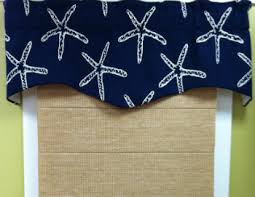 Nautical Valance Curtains Seashell Curtains And Valances Starfish Valance Coastal Print
