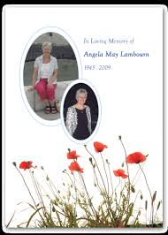 funeral stationary flora and photo funeral stationery contemporary funeral