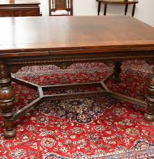 jacobean revival style dining table and five chairs ebth