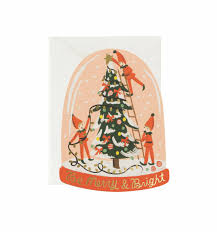merry elves greeting card by rifle paper co made in usa
