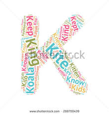 cute word cloud abc letters series stock vector 288700442