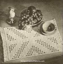 free crochet patterns for home decor filet luncheon set free home decor crochet patterns