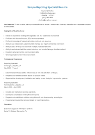 technical support specialist resume sample sample reporting specialist resume resame pinterest explore resume html and more sample reporting specialist resume