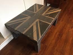 union jack pallet coffee table u2022 1001 pallets