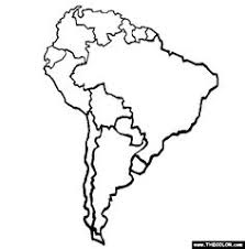 map of and south america black and white a printable map of south america labeled with the names of each