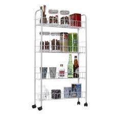 kitchen storage cabinet cart rolling 3 4 tiers slim cabinet cart shelf kitchen storage rack with wheel bathroom shelf