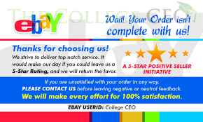 ebay seller thank you feedback cards template free download