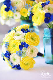 blue and yellow wedding flowers wedding invitations which