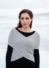 fisherman aran cable wrap in wool u0026 cashmere stunning