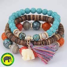 bead bracelet styles images Animal social company handmade 3 piece bohemian elephant tassel jpg