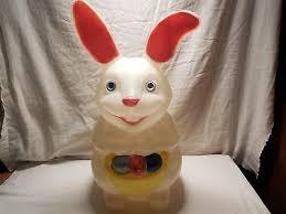 plastic easter bunny rabbit egg mold yard decoration lighted