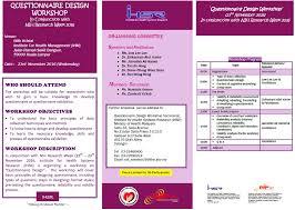 questionnaire design questionnaire design workshop