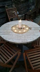 16 beautiful and adaptable spool table designs tea light candles