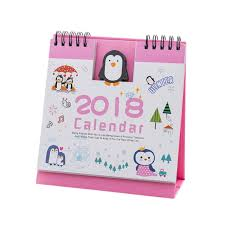 cartoon calendar hunpta 2018 cute cartoon animal desk desktop calendar flip stand table office planner