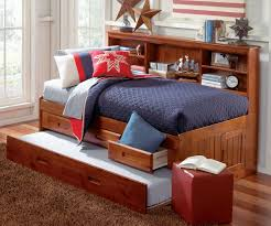 merlot twin size bookcase captain u0027s day bed with trundle day